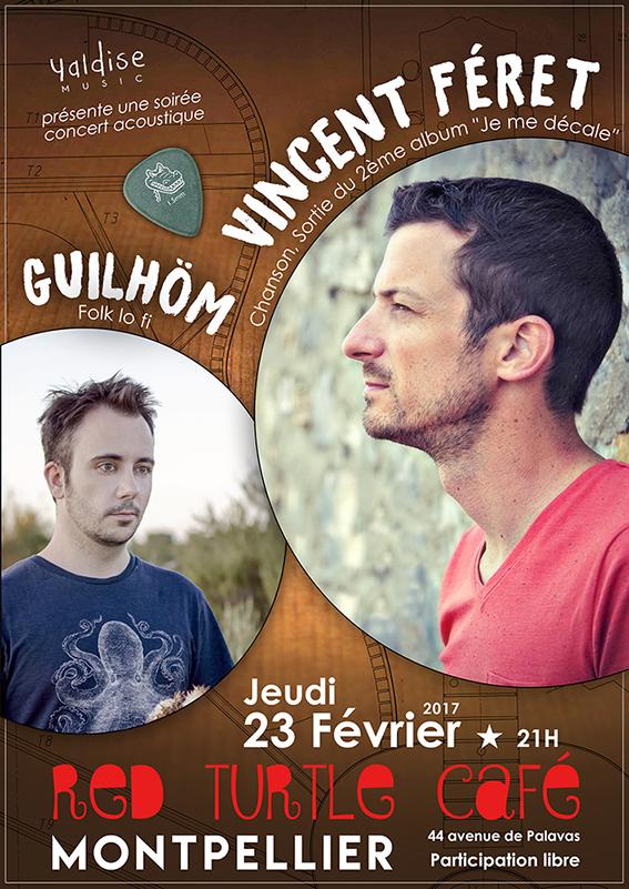 Affiche guilhöm + Vincent Feret red turtle 23/02/2017