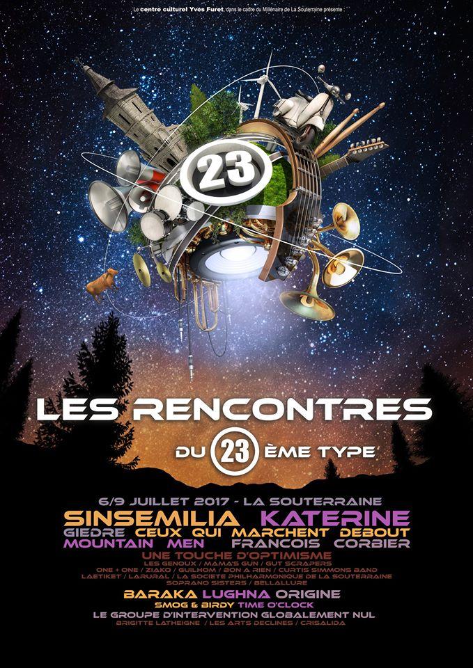 Rencontres du 23ème Type (affiche festival)