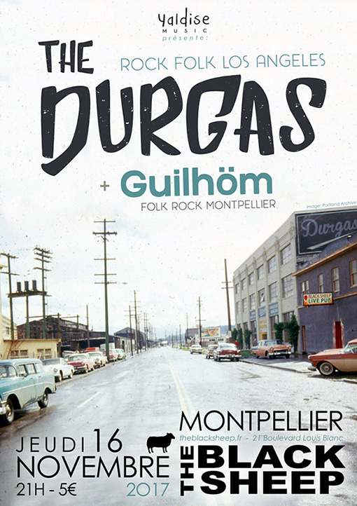 Guilhöm + the Durgas à Montpellier